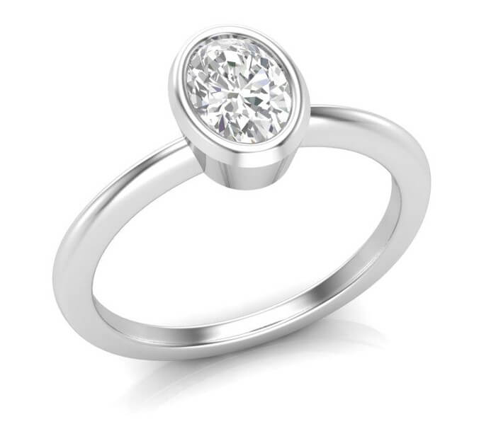 oval style engagement ring