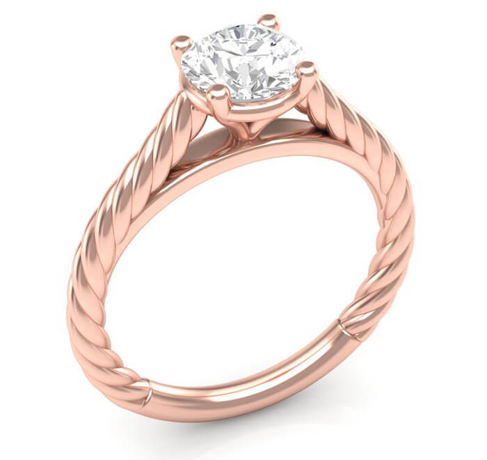rope style engagement ring