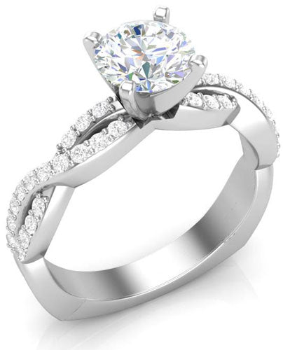 square shank twisted engagement ring