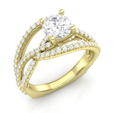 twisted weave engagement ring