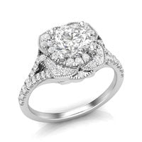 Vintage white gold engagement ring
