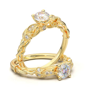 Yellow Gold Floral Vine Ring