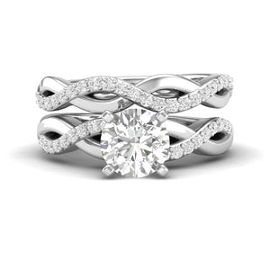 White Gold Infinity Half Diamond Engagement Set
