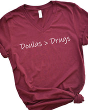 Doulas (are greater than) Drugs Unisex T-shirt
