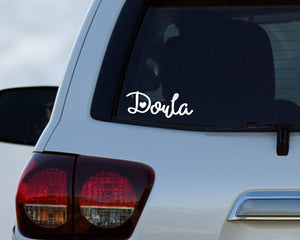 Doula car decal