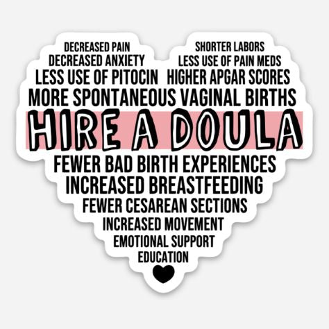 Hire A Doula Sticker