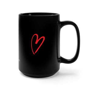 HERE / NOW Black Mug 15oz