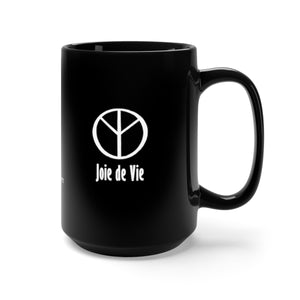 Joie de Vie / Ai ( Love) Black Mug 15oz