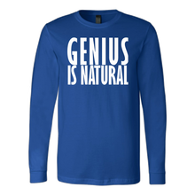 GENIUS IS NATURAL Canvas Long Sleeve Shirt