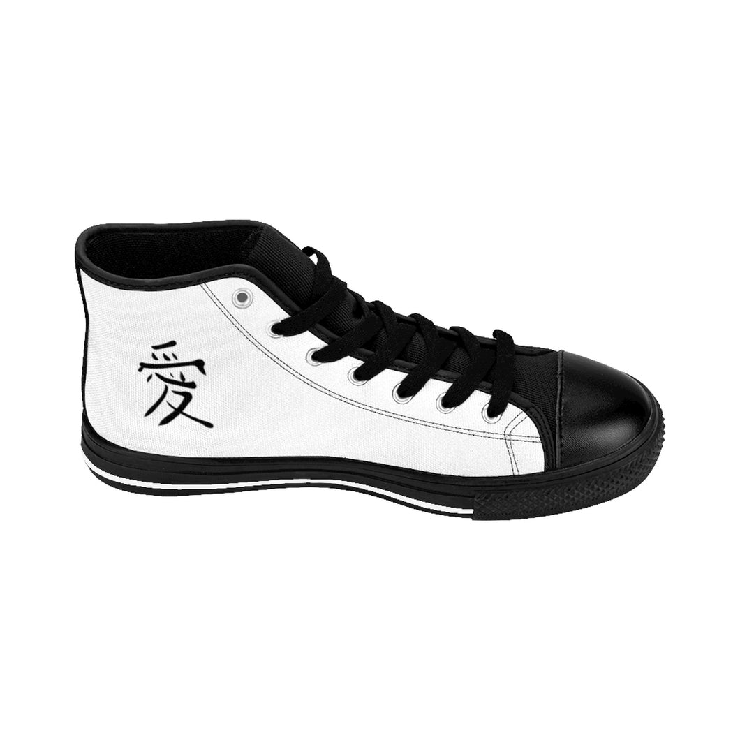 Joie de Vie / Love (Ai) White Men's High-top Sneakers