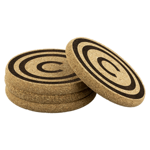Carbon HOME™ Round Cork Coaster Set of 4