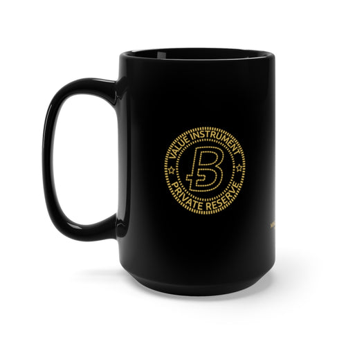 Bitcoin Change Black Mug 15oz