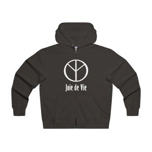 Joie de Vie / Love (Ai) Men's Lightweight Zip Hooded Sweatshirt