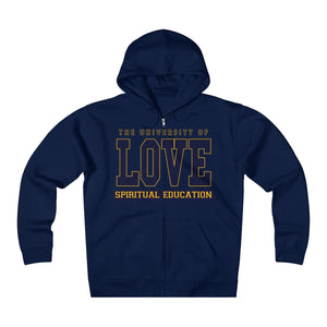 University of Love Unisex Heavyweight Fleece Zip Hoodie