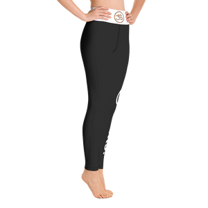 Carbon Rocks!™ Black Yoga Leggings