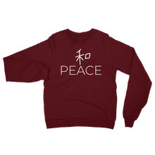 PEACE / WA Unisex California Fleece Raglan Sweatshirt