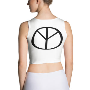 Love and Peace Sublimation Cut & Sew Crop Top