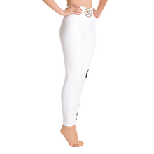 Carbon Rocks!™ White Yoga Leggings