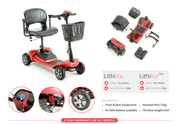 Lithilite Pro Super Lightweight Portable Mobility Scooter
