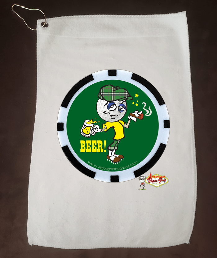 NEW BEER Cartoon Golf Towel