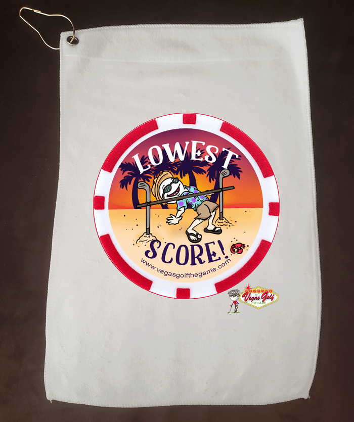 NEW Vegas Golf Lowest Score Character Golf Towel