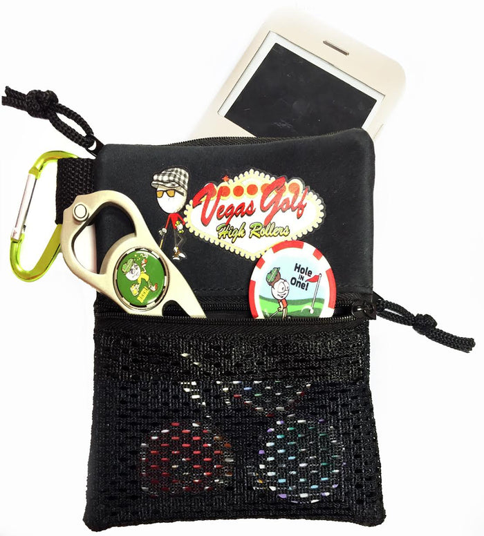 Deluxe Tee/Chip Bag wit Carabiner Clip