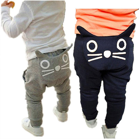 Unisex Pants Cotton Cat Trousers - Match it! Family Boutique