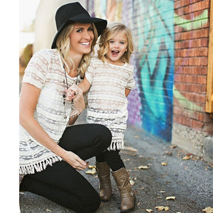 Mom & Daughter Lace Tassel - Match it! Family Boutique