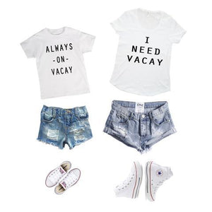 I Need Vacay Mother and Kids Tee - Match it! Family Boutique
