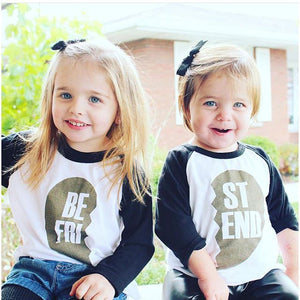 Sibling Best-friend Print Long Sleeve - Match it! Family Boutique