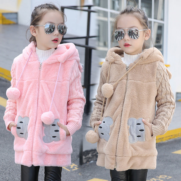 SALE Winter Girls Fleece Coat - Match it! Family Boutique