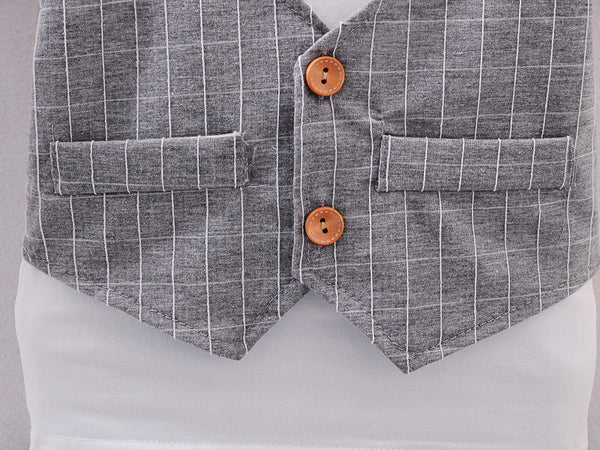 Boy Preppy Style Suit Set With Bow - Match it! Family Boutique