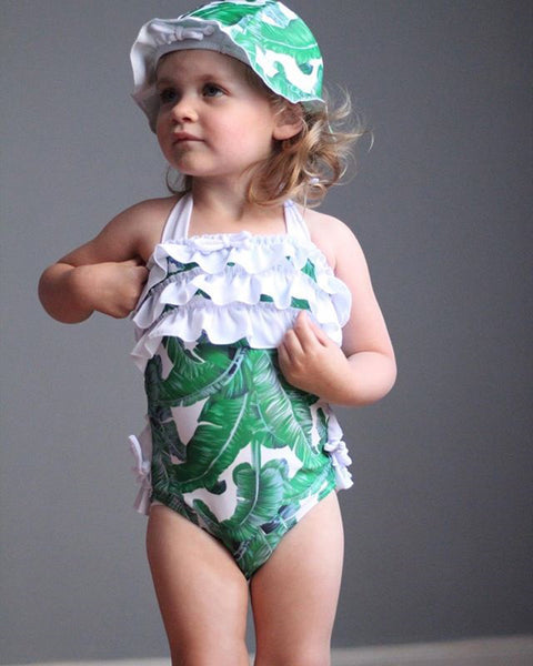 Tropical Leaves Kids Swimwear - Match it! Family Boutique