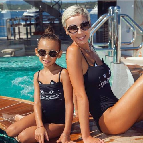 Mom & Daughter Cat Swimsuit - Match it! Family Boutique