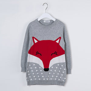Kids Sweater Cute Fox Girls Clothes 1-5y.o - Match it! Family Boutique