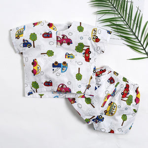 Boy Car print T-shirt Tops + Shorts - Match it! Family Boutique