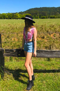 ~Woodstock~ concho halter top