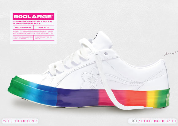 CONVERSE ONE STAR x GOLF le  FLEUR RAINBOW SOLE