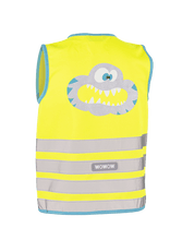 "WOWOW - HI VISIBILITY & REFLECTIVE ZIPPER VEST JACKET KIDS: ""CRAZY MONSTER"""