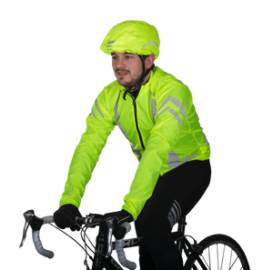 "WOWOW - HI VISIBILITY YELLOW + REFLECTIVE STRIPS:  ""HELMET RAIN COVER"""