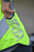 "WOWOW - HI VISIBILITY & REFLECTIVE ZIPPER VEST JACKET / MENS / YELLOW: ""ROADIE"""