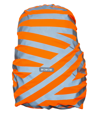 WOWOW - BACKPACK / BAG COVER - REFLECTIVE & HI VISIBILITY / ORANGE: