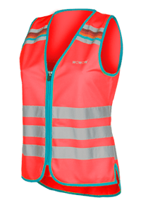 "WOWOW - HI VISIBILITY & REFLECTIVE ZIPPER VEST JACKET / RED: ""LUCY"""