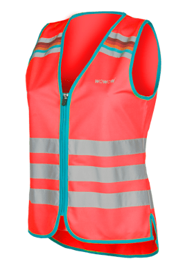WOWOW - HI VISIBILITY & REFLECTIVE ZIPPER VEST JACKET / RED: