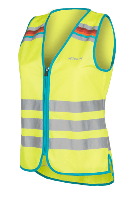 WOWOW - HI VISIBILITY & REFLECTIVE ZIPPER VEST JACKET / YELLOW: