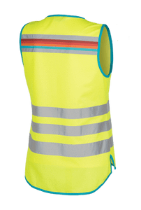 "WOWOW - HI VISIBILITY & REFLECTIVE ZIPPER VEST JACKET / YELLOW: ""LUCY"""