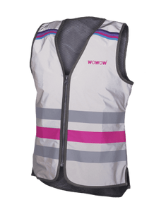 "WOWOW - FULLY REFLECTIVE ZIPPER VEST JACKET: ""LUCY FR"""