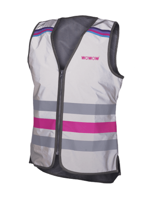 WOWOW - FULLY REFLECTIVE ZIPPER VEST JACKET: