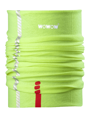 WOWOW - HI VISIBILITY NECK / HEAD WARMER / HEAD BAND - YELLOW:
