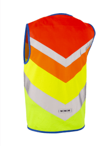 "WOWOW - HI VISIBILITY & REFLECTIVE ZIPPER VEST JACKET KIDS: ""RAINBOW"" - NEW"